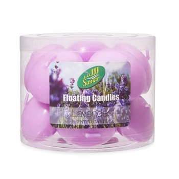 Samar Floating Candle 12s Purple-Lavender