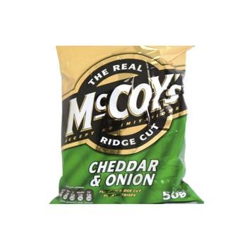 Mccoys Potato Crisps Cheddar & Onion 50g