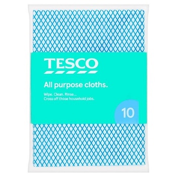 Tesco All Purpose Cloths 10 Pack