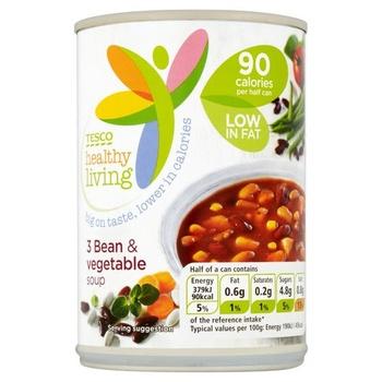Tesco Healthy Living Three Bean & Vegetable Soup 400g