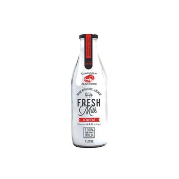 Al Ain Low Fat Milk 1 ltr Glass Bottle