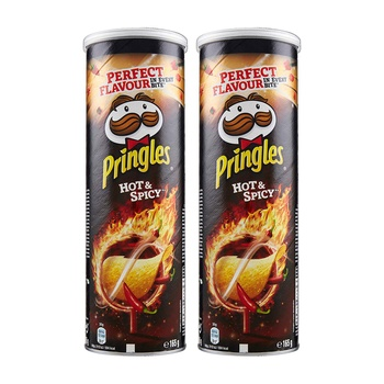 Pringles Hot & Spicy 2 x 165g