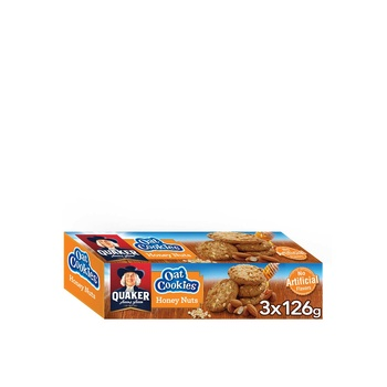 Quaker Oat Cookies Honey Nuts 126g 2+1 Free