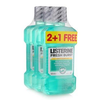Listerine Mouthwash Fresh Burst 3X500ml