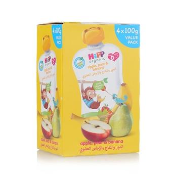Hipp Banana,Pear & Mango 4X100g
