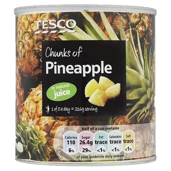 Tesco Chunks Of Pineapple Juice 432g