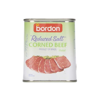 Bordon Corned Beef Reduced Salt (Halal) 340g