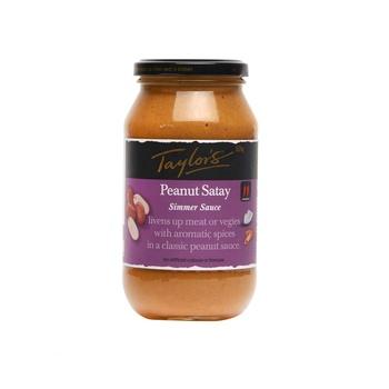 Taylors Simmer Sauce Peanut Satay 525g