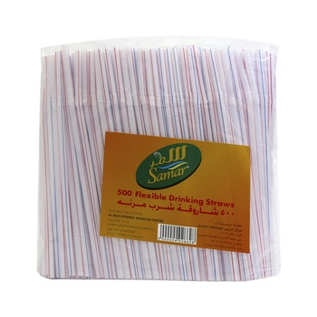 Samar Flexible Drinking Straws 500pcs