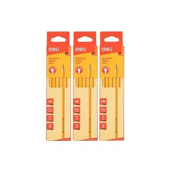 DELI 2 Pack Pencil + Eraser + Sharpener