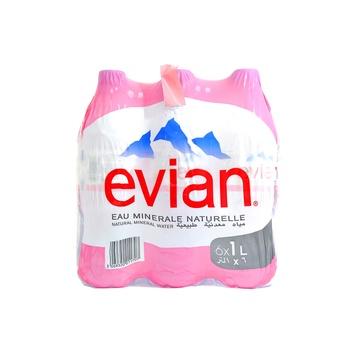Evian Mineral Water 6 X 1 ltr