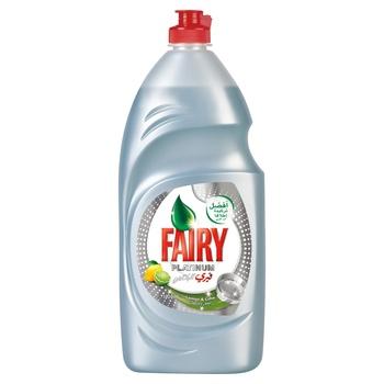 Fairy Platinum Lemon Dishwashing Liquid Soap, 1.02 ltr @ 10 AED