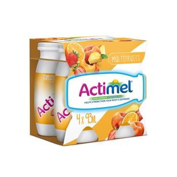 Actimel Multi Fruit Dairy Drink Multi Pack 4 X 93 ml