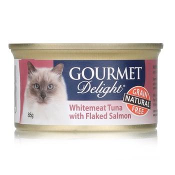 Groumet delite with Tuna & Salmon 85g