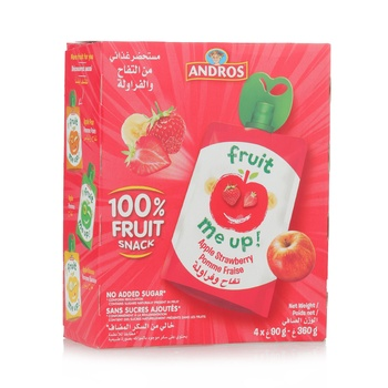 Andros Fruit Me Up Apple Strawberry 4*90g