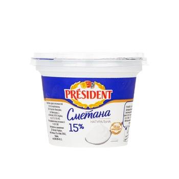 President Sour Cream 15% 200g