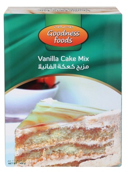 Goodness Foods Vanilla Cake Mix 400g