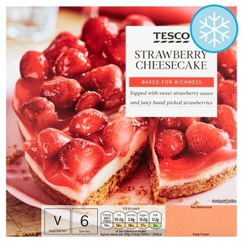 Tesco Strawberry Cheese Cake 500g