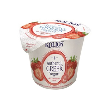 KOLIOS Authentic Greek Strained Yoghurt 0% Strawberry Layer 150g
