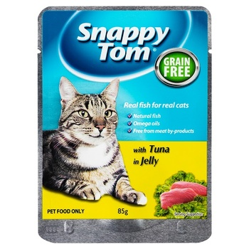 Snappy Tom Pouch Tuna In Jelly 85G