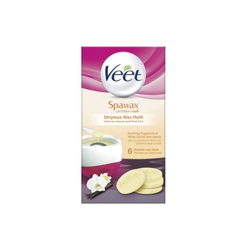 Veet Hair Removal Spawax Stripless Wax White Orchid & Vanilla Refill 6s