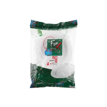 Fun® Plastic Plate Ø18cm 50pcs  White