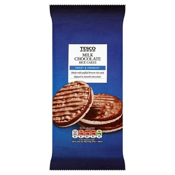 Tesco Rice Cakes Milk Chocolate 70g