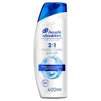 Head & Shoulder 2in1 Anti-Dandruff Shampoo Classic Clean 400ml