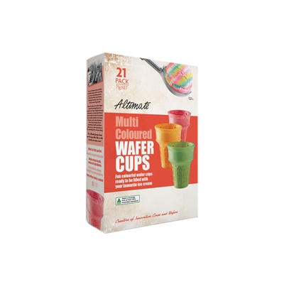 Altimate Multi Coloured Wafer Cups 75g