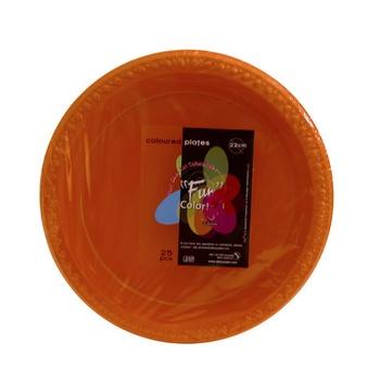 Dopla Colour Plate Orange 25pcs