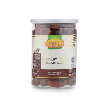 Goodness Foods Premium Dates 600Gms