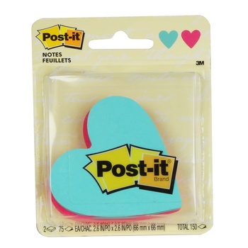 3M POST IT Notes Super Sticky Heart 7350