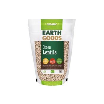 Earth Goods Organic Green Lentils 340g
