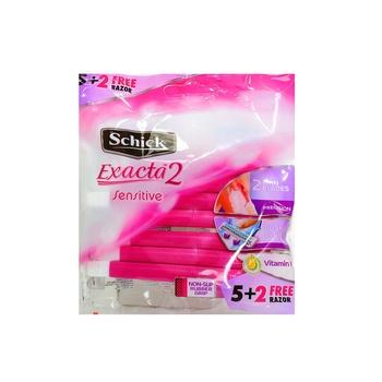 Schick Sensitive Disposable Exacta II Women 5 + 2