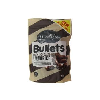 Darrell Lea Liquorice Bullets - Dark Chocolate 250g
