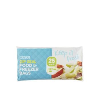 Tesco Zip Seal Food And Freezer Bags 25 Small