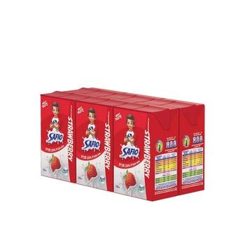 Safio strawberry flavoured milk 6x125ml