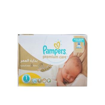Pampers Premium Care Diapers  Size 1  Newborn  2-5 kg  Mega Box  112 Count