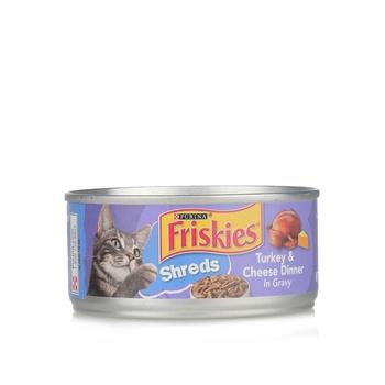 Purina Friskies Savory Shreds Turkey & Cheese Wet Cat Food Can 156g