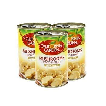 California Garden Mushroom Pieces & Stems 425g Pack Of 3