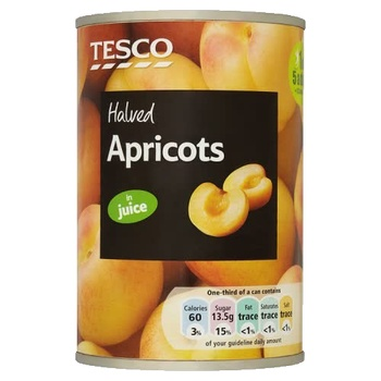 Tesco Halved Apricot In Juice 411g