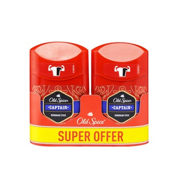Old Spice Deostick Cptain 2X50ml