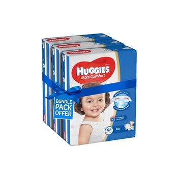Huggies Ultra Comfort Diapers Size 4+ Jumbo Pack 10-16kg (Pack Of 204 Diapers)