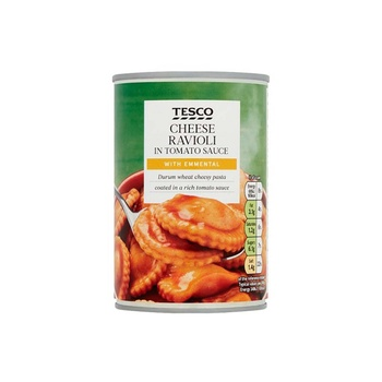 Tesco Cheese Ravioli In Tomato Sauce 410g