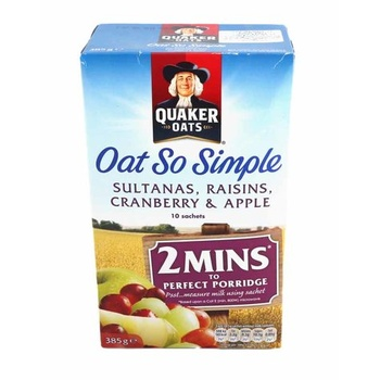 Quaker Oats So Simple Sultana/Raisins/Apple/Cranberry 297g