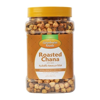 Goodness Foods Roasted Chana with Skin 400g