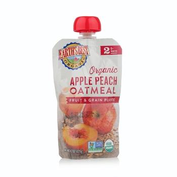 Earth's Best Organic Apple Peach Oatmeal Puree 120g