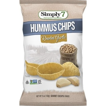 Simply7 Chips Hummus Roasted Garlic 142g