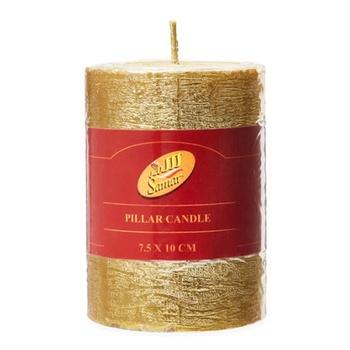 Samar Pillar Candle 7.5X10 Cm Gold