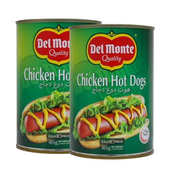 Del Monte Chicken Hot Dog 2x415g